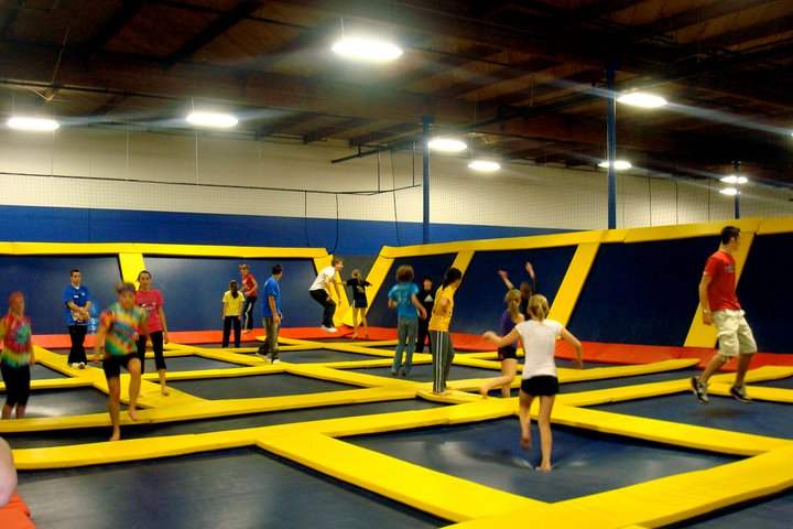 /></a><br /><br /></p> <p>Sky High Sports is a unique trampoline fun center. This facility has been designed and created for one purpose: To have FUN! Come and improvise! Whether you flip forward or flip backward, you will definitely flip out for Sky High Sports! You can free-bounce and do tricks all day, or you can join us for some of our organized activities, like our trampoline dodgeball. As long as you like to bounce, Sky High Sports is for you. Everyone is welcome. Come by for an hour or two and have some fun. Unlike home trampolines, with our specially designed, spring loaded frame, landing here has more give. All frames and springs are covered by 2 inch thick safety pads. With 360 degrees of trampoline walls and court supervisors, there