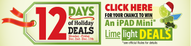 Limelight Deals members can win great prizes like iPad Minis!