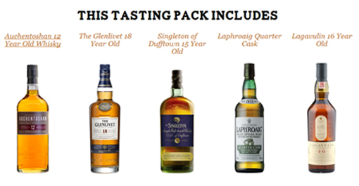This month's tasting pack includes: